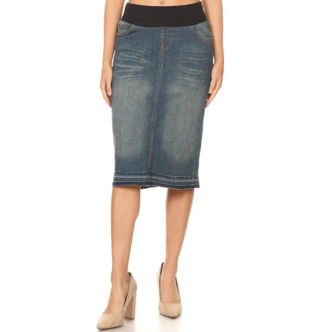 Denim Skirt by G: Maternity - The Mimi Boutique