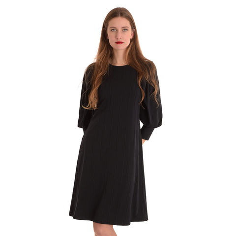Fara Dress: Black Sleeve - The Mimi Boutique
