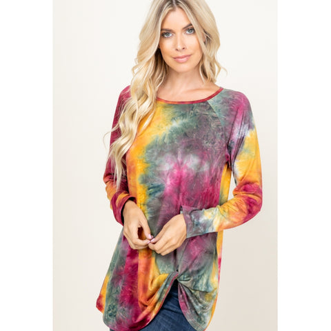Tyedye Twist Top - The Mimi Boutique