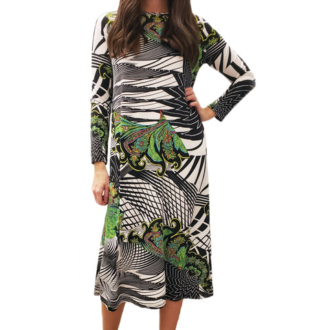 Geometric Paisley Dress - The Mimi Boutique