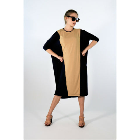Katso Dress: Black/Camel