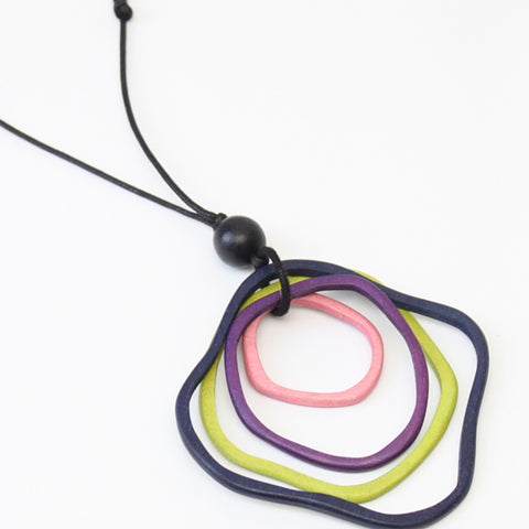Sylca Necklace: Tri Color Geometric - The Mimi Boutique