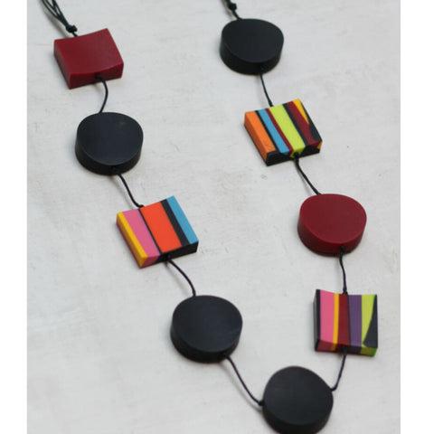Sylca Necklace: Colorful Geometric - The Mimi Boutique