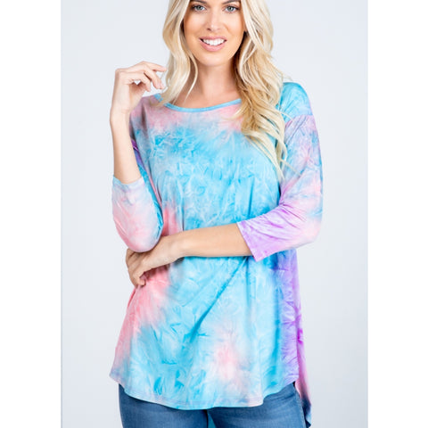 Soft Tye Dye High Low Top