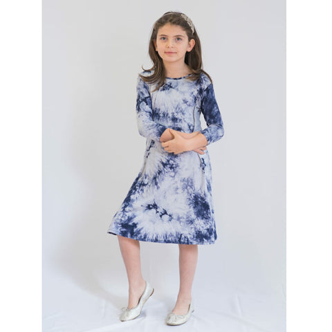 Tye Dye Tunic Dress: Blue Tye Dye