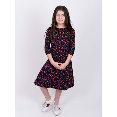 Purple Leaf Dress: Teen - The Mimi Boutique