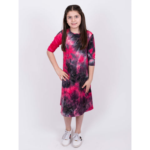 Neon Tye Dye Dress: Pink - The Mimi Boutique
