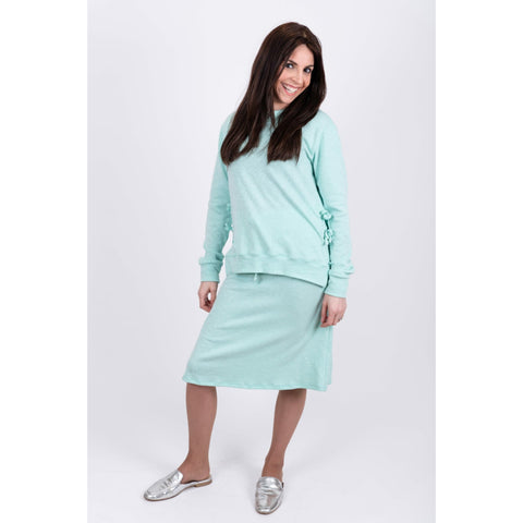 Ribbed Side Tie 2 Piece Set: Mint - The Mimi Boutique