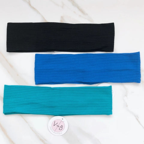 Soft Ribbed Flat Headband by Valeri