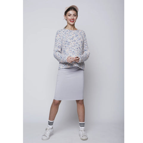 Short Tube Skirt: Heather Grey