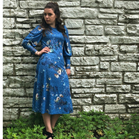 Emery Dress: Blue Floral