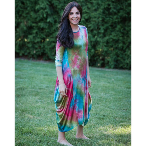 Georgiana Dress Tye Dye - Watermellon