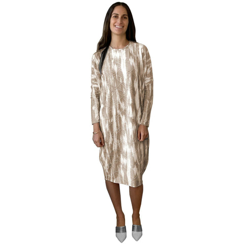Mazali Dress: Taupe