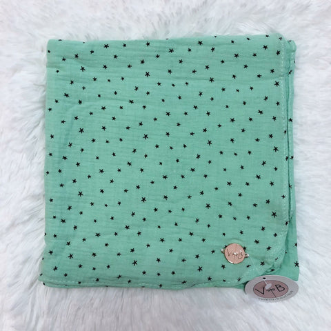 Varying Size Star Headscarf by Valeri: Mint