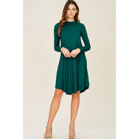 Hunter Green Swing Dress: Plus Size