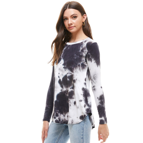 Black & White Tye Dye Top