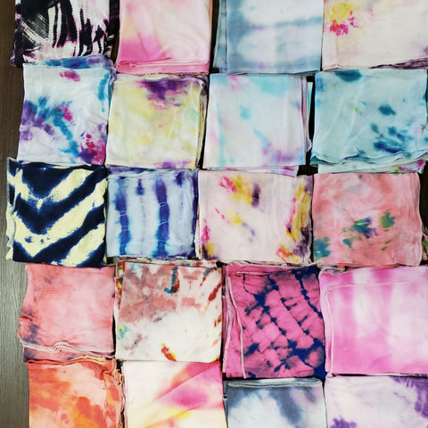 Handmade Tye Dye Cotton Headscarves