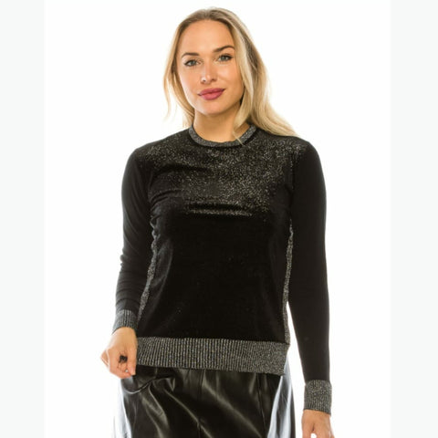 Shimmer Velvet Sweater by Yal