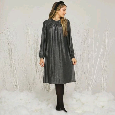 Ashley Metallic Dress: Silver