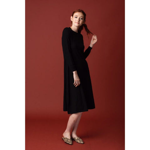 Acorn Knit Dress: Black