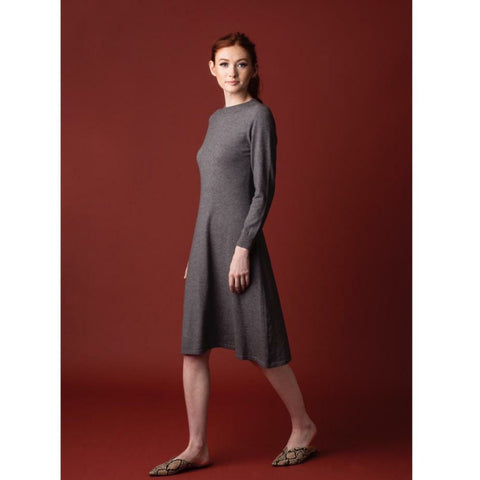 Acorn Knit Dress: Grey