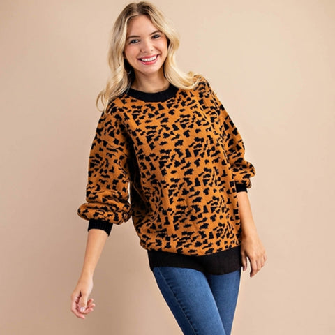 Kori Print Oversized Sweater