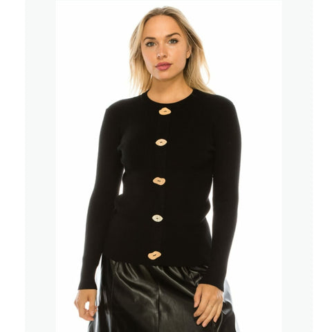 Funky Button Sweater by Yal