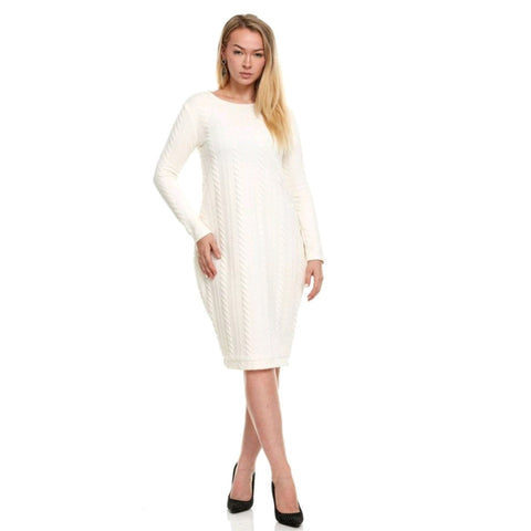 Jamie Sweater Dress: Ivory