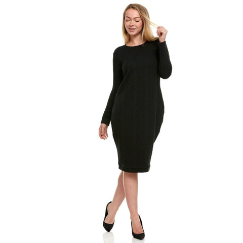 Jamie Sweater Dress: Black