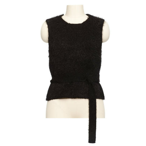 Knitted Vest: Black