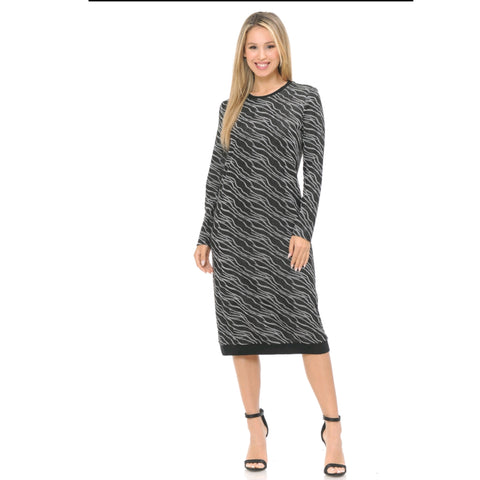 Shimmer Sweater Dress