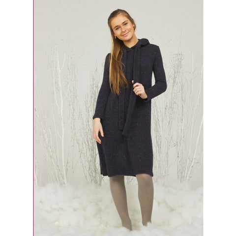 Evelyn Hoodie Dress: Navy (Teen)