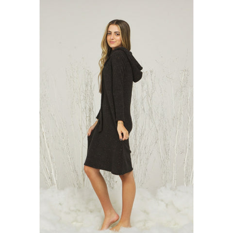Evelyn Hoodie Dress: Black (Teen)