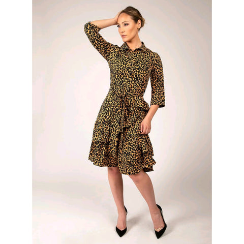 Cheetah Tiered Dress