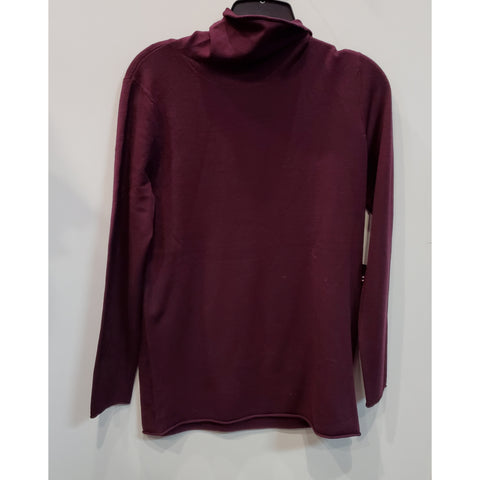 Turtle Neck Sister Sweater: Plum