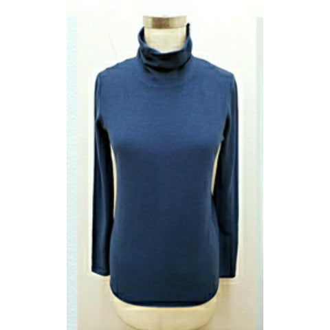 Turtle Neck Sister Sweater: Deep Blue