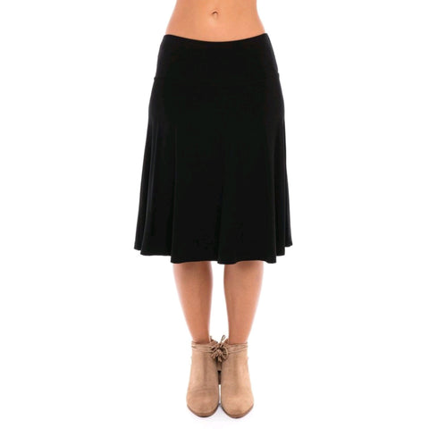 Modal Skye Skirt by Maya's: Black
