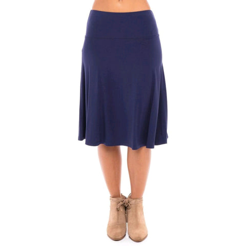 Modal Skye Skirt by Maya's: Navy