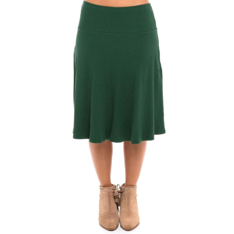 Ribbed Skye Skirt: Emerald