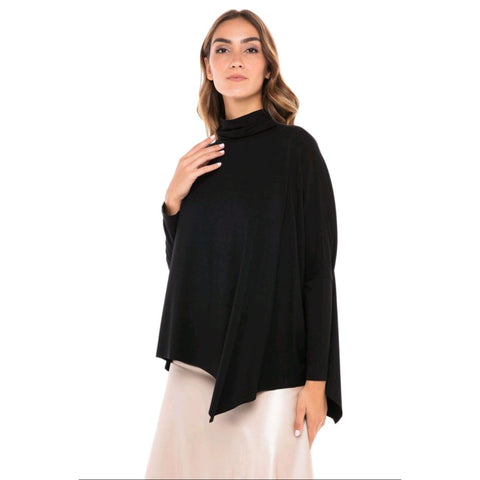 Turtleneck Eden Top: Black