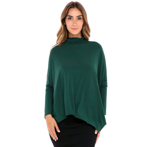 Turtleneck Eden Top: Emerald
