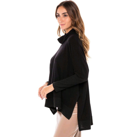 Cowl Neck Sweater: Black