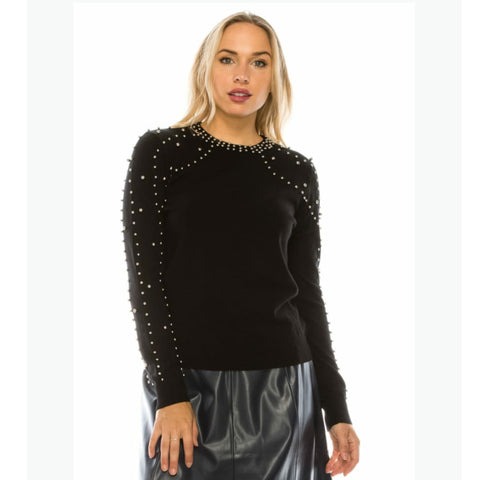 Silver Bead Sweater by Yal