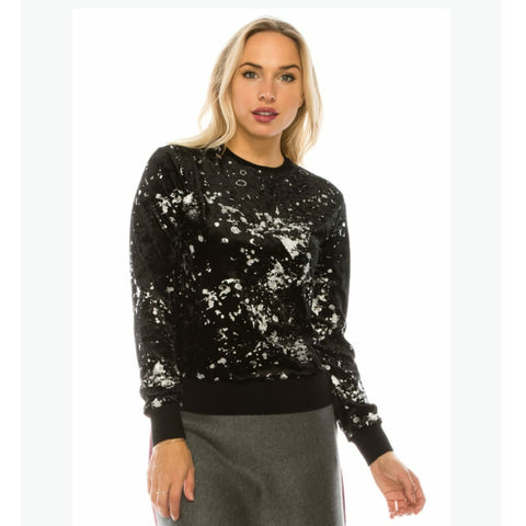 Silver Splash Sweater by Yal