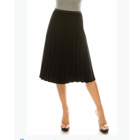 Pleated Skirt by Yal: Black