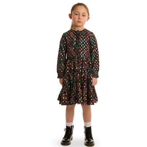 Gold Dotted Rainbow Dress (Teen)