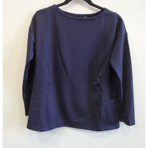 Ponti Pocket Top: Navy