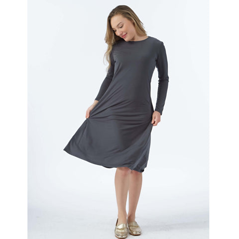 Sundrop Dress: Grey