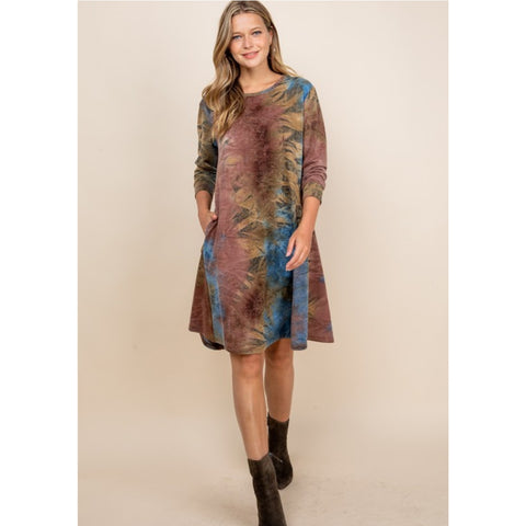 Zia Tie Dye Dress: 2 Colors