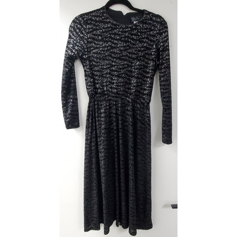 Everything Dress: Black/Silver Velvet Cheetah